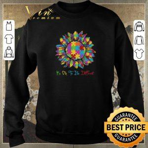Premium Autism Sunflower Awareness It's Ok To Be Different shirt sweater 2
