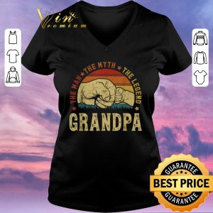 Premium Grandpa The Man The Myth The Legend Vintage shirt sweater 1