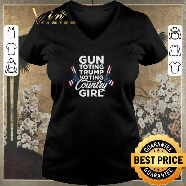 Premium Gun toting Trump voting country girl American flag shirt sweater