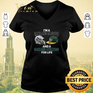 Premium I'm a Oakland Raiders and a Oakland Athletics for life shirt sweater 1