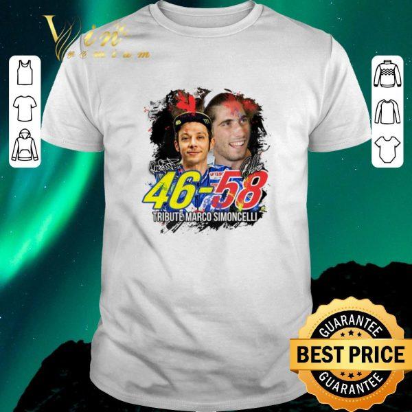 Premium Valentino Rossi 46 Tribute Marco Simoncelli 58 signatures shirt sweater