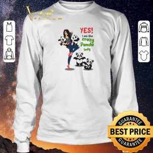 Premium Yes i am the crazy panda lady shirt sweater 2