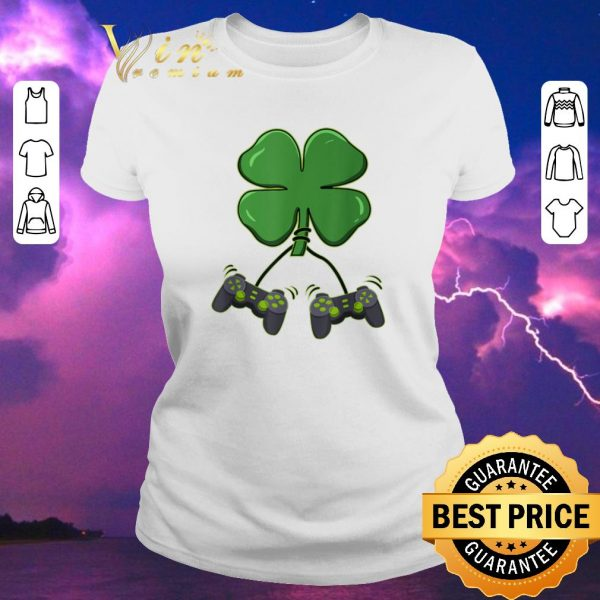Pretty Four leaf clover video game controllers shirt sweater
