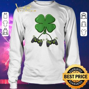Pretty Four leaf clover video game controllers shirt sweater 2