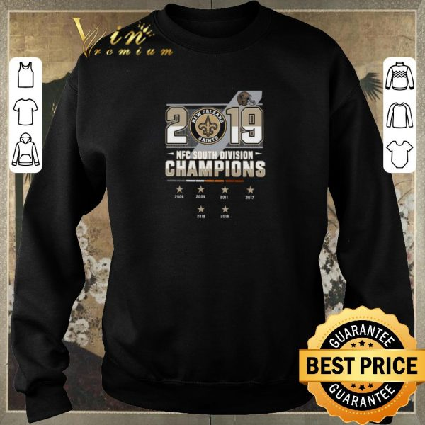 Pretty New Orleans Saints 2006-2019 NFC South Division Champions shirt sweater