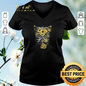 Pretty Skeleton Bones Sunflowers shirt sweater 1