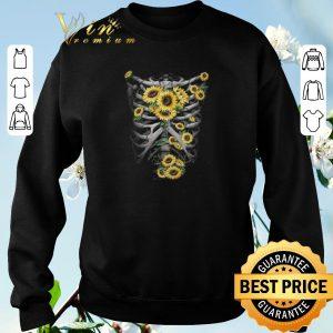Pretty Skeleton Bones Sunflowers shirt sweater 2