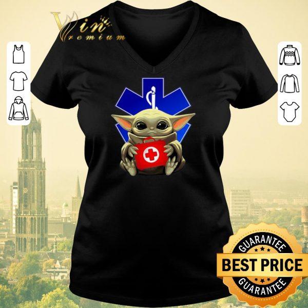 Top Baby Yoda hug Paramedic EMT Star Wars Mandalorian shirt sweater