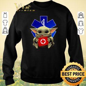 Top Baby Yoda hug Paramedic EMT Star Wars Mandalorian shirt sweater 2