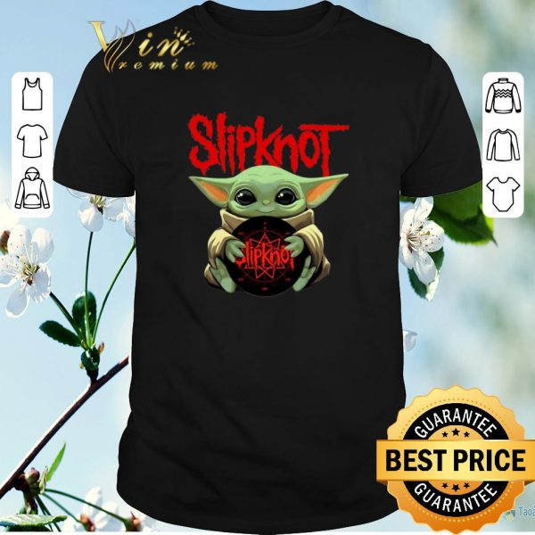 Top Baby Yoda hug Slipknot Albums Star Wars shirt sweater