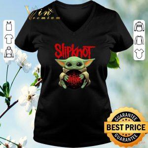 Top Baby Yoda hug Slipknot Albums Star Wars shirt sweater 1