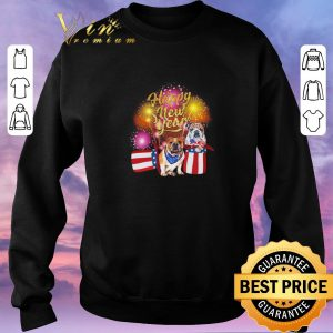 Top Bulldog Happy New Year Fireworks shirt sweater 2