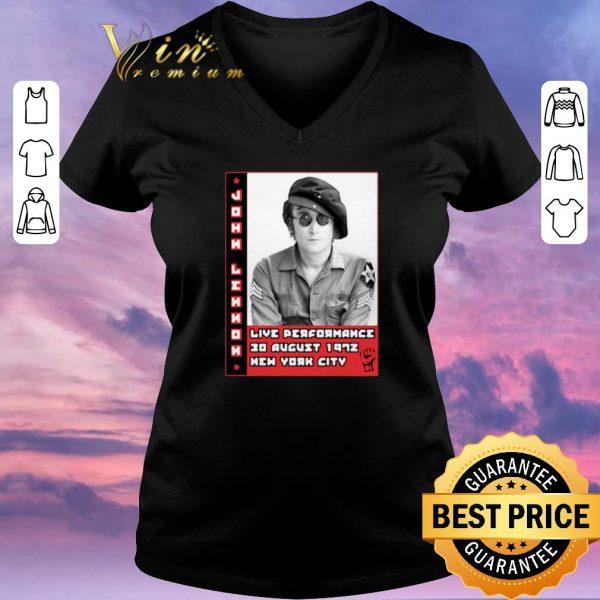 Top John Lennon live performance 30 august 1972 New York City shirt sweater