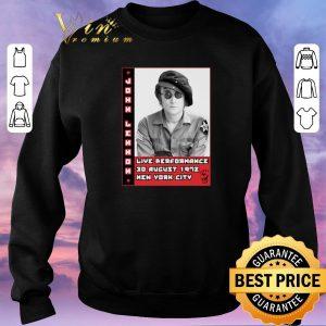 Top John Lennon live performance 30 august 1972 New York City shirt sweater 2