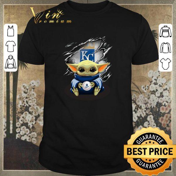 Top Kansas City Royals Baby Yoda Blood Inside shirt sweater
