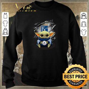 Top Kansas City Royals Baby Yoda Blood Inside shirt sweater 2