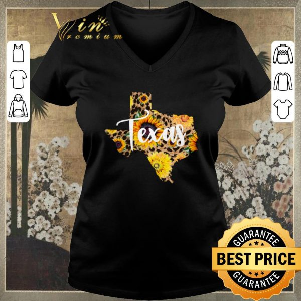 Top Texas Sunflower Wildflower State Map shirt sweater