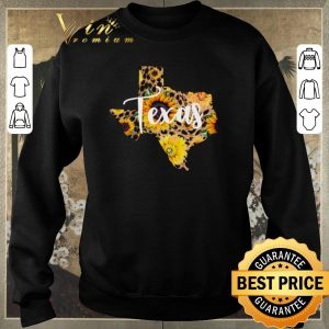 Top Texas Sunflower Wildflower State Map shirt sweater 2