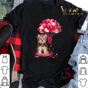 Yorkshire Terrier dog Love Balloons heart shirt sweater 1