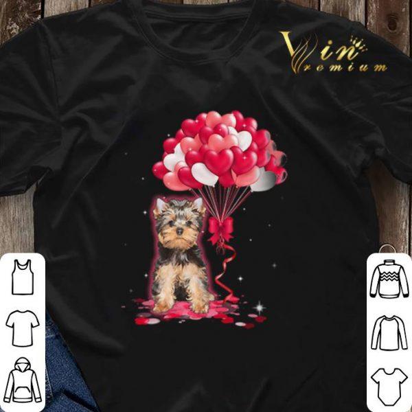 Yorkshire Terrier dog Love Balloons heart shirt sweater