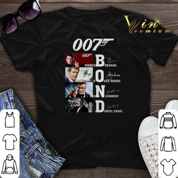 007 James Bond Pierce Brosnan Roger Moore Sean Connery signature shirt sweater