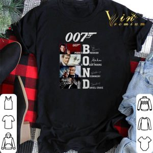 007 James Bond Pierce Brosnan Roger Moore Sean Connery signature shirt sweater 1