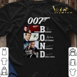 007 James Bond Pierce Brosnan Roger Moore Sean Connery signature shirt sweater 2