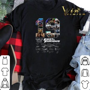 19 years of Fast & Furious 2001 2020 10 movies signatures shirt sweater 1
