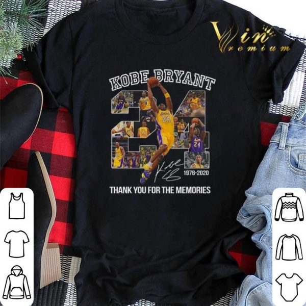 24 Kobe Bryant signature 1978-2020 thank you for the memories shirt sweater