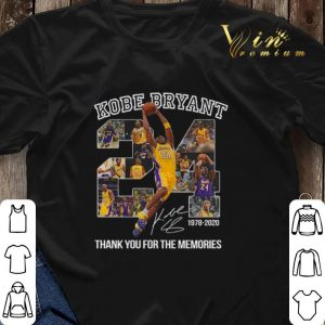24 Kobe Bryant signature 1978-2020 thank you for the memories shirt sweater 2