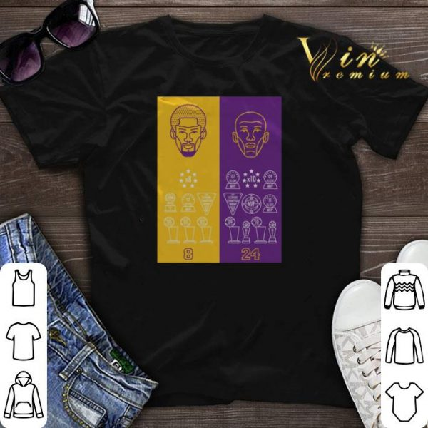 8 24 Kobe Bryant Title Collection Trophies Championship shirt sweater