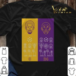 8 24 Kobe Bryant Title Collection Trophies Championship shirt sweater 2