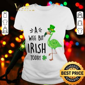 A Wee Bit Irish Today Flamingo Leprechaun St Patrick's Day shirt