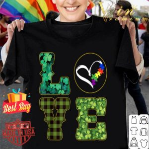 Autism Puzzle Awareness St. Patricks Day Love shirt