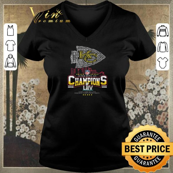 Awesome All name players Kansas City Chiefs Super Bowl LIV Champions shirt sweater