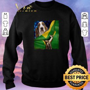 Awesome Bandeira do Brasil Basset Hound shirt sweater 2