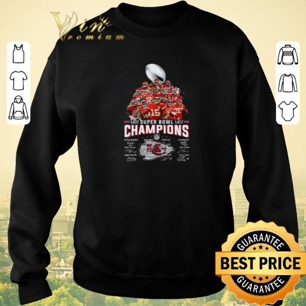 Awesome Champions Kansas City Chiefs Super Bowl LIV all Signature shirt sweater