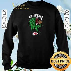 Awesome Chiefin weed smoking Indian Kansas City Chiefs Champions shirt sweater 2