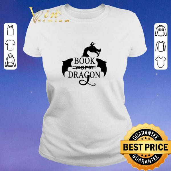 Awesome I am a book dragon not worm book shirt