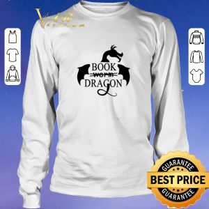 Awesome I am a book dragon not worm book shirt 2