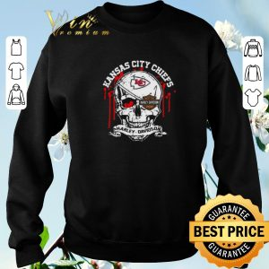 Awesome Kansas City Chiefs Motor Harley Davidson Cycles skull shirt sweater 2