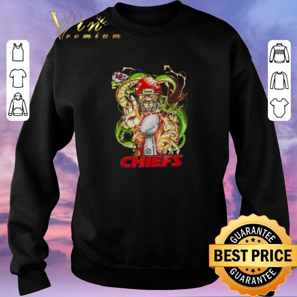 Awesome Kansas City Chiefs Son Goku Kamehameha Super Bowl Dragon ball shirt sweater