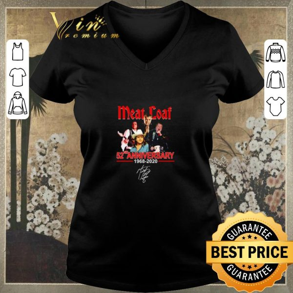 Awesome Meat loaf 52ND anniversary 1968-2020 signature shirt sweater