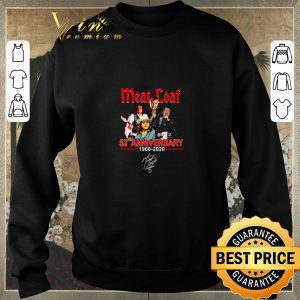 Awesome Meat loaf 52ND anniversary 1968-2020 signature shirt sweater 2