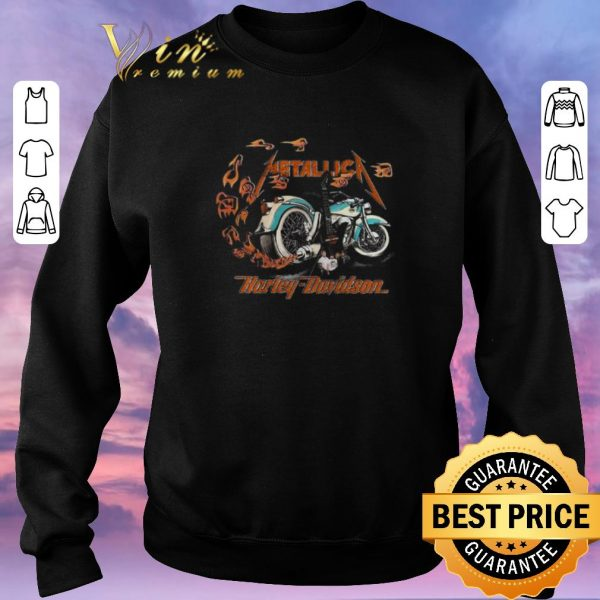 Awesome Motorcycle guitar Metallica Harley Davidson shirt sweater