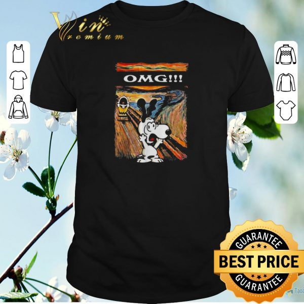 Awesome Snoopy and Charlie Brown The Scream omg Van Gogh shirt sweater