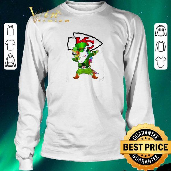 Awesome St Patrick's Day Unicorn Dabbing Kansas City Chief shirt sweater