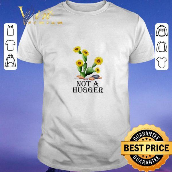 Awesome Sunflower Cactus not a hugger shirt sweater