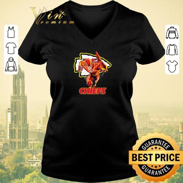 Awesome The Flash DC mashup Kansas City Chiefs Logo shirt sweater