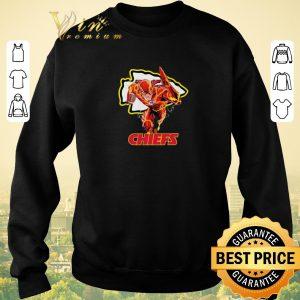 Awesome The Flash DC mashup Kansas City Chiefs Logo shirt sweater 2